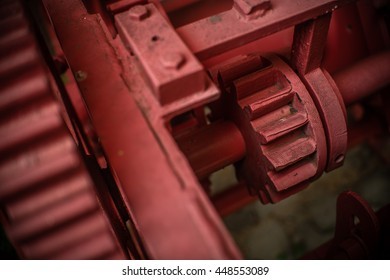 Gears and cogs, red toned