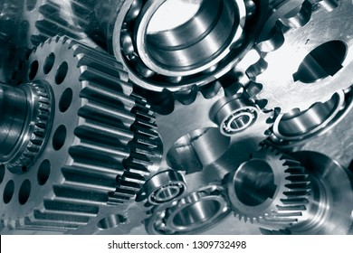 gears and cogs, titanium and steel engineering parts