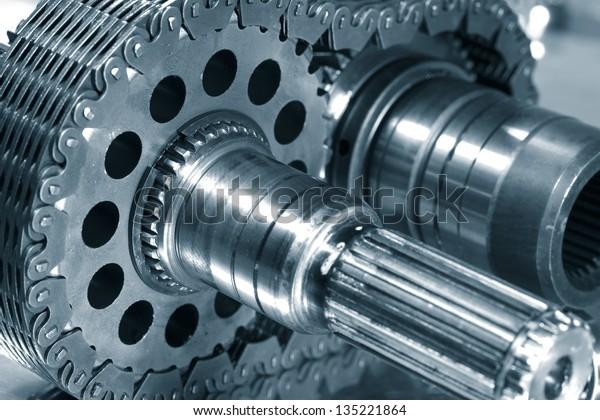 gears and cogwheel axles, used in aerospace industry