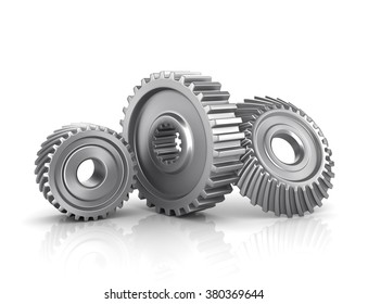 Gears isolated on a white