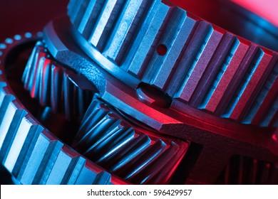 Gears. Machine part.