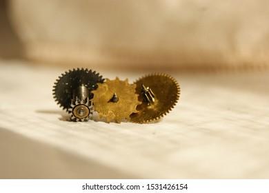 gears from mechanical watches. cogwheels from clockwork