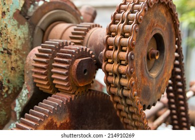 Gears of old machine