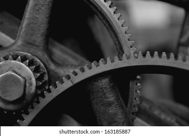 Gears on an old machine