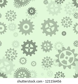 Gears seamless repeating pattern.  Illustration