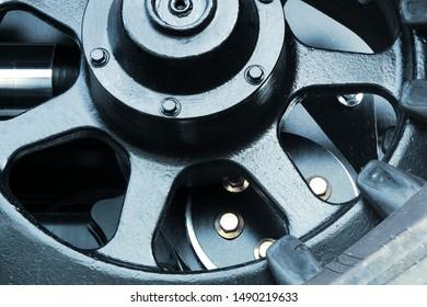 gears working mechanism powerful metal wheel