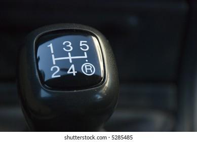 Gearshift manual closeup