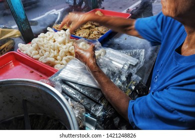 geblek and gorengan , indonesian street foods and snacks