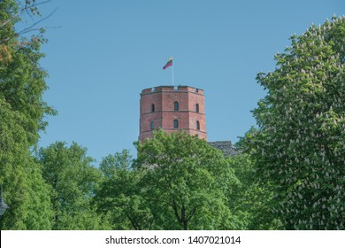 Gediminas Castle Tower in Vilnius, Lithuania.