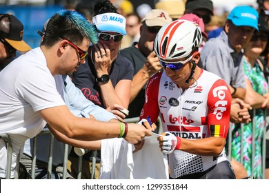 GEELONG, AUSTRALIA - JANUARY 27: Caleb EWAN (AUS)
