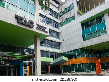 Geelong, Australia - October 14, 2018: the Traffic Accident Commission or TAC is the statutory insurer for third party personal injury in Victoria. This is its headquarters in Geelong.