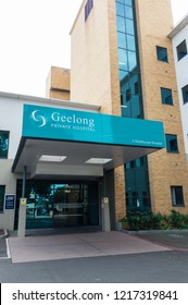 Geelong, Australia - October 14, 2018: the Geelong Private Hospital closed in June 2018 by its operator Healthscope. 400 jobs were lost.
