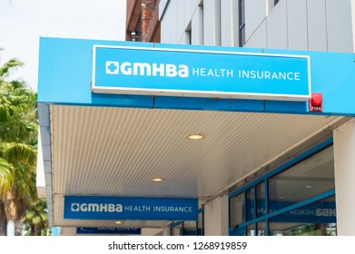 Geelong, Australia - October 14, 2018: GMHBA is a private health insurance company, headuartered in Geelong. GMHBA has more than 230000 members.