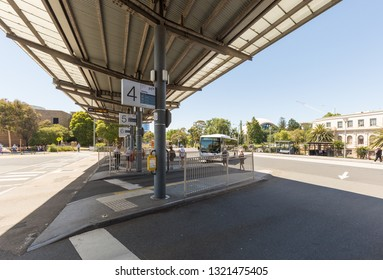 Geelong, Victoria, Australia - January 28, 2019: Geelong station, regional station in Victoria. 1hour travel from Southern Cross Station.