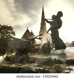 Gefion Fountain in Copenhagen. Denmark