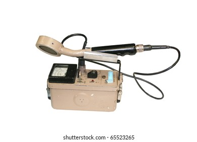 Geiger counter isolated on white