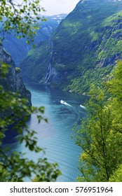 Geiranger fjord scenic view
