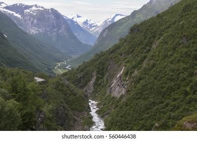 Geiranger Fjord, Geiranger valley, Dalsnibba mountain, Norway.