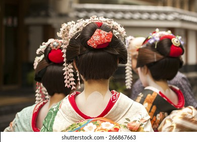 Geisha in Kyoto, Japan, August 2014