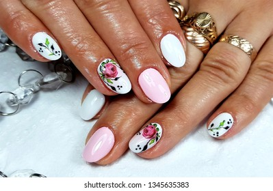 Gel nails painted