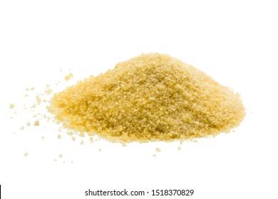 Gelatin powder on wooden background