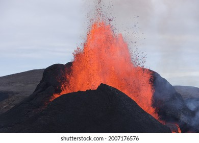 Geldingadalir volcanic eruption in Iceland