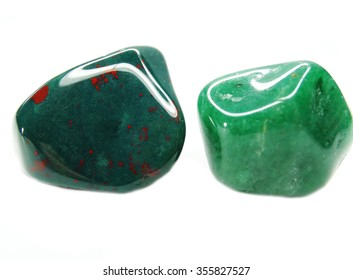 geliotrope avanturine semigem geological crystal isolated