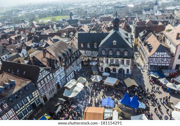 Gelnhausen Germany March 9 People Enjoy Stock Photo (Edit