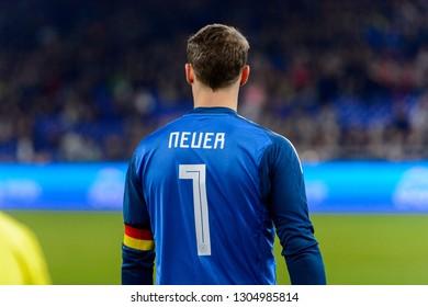 GELSENKIRCHEN - NOV 19, 2018: Manuel Neuer 1. Germany - Netherlands. UEFA Nations League. Schalke 04 stadium.