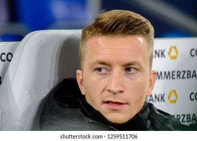 GELSENKIRCHEN - NOV 19, 2018: Marco Reus 11 close up portrait. Germany - Netherlands. UEFA Nations League. Schalke 04 stadium.