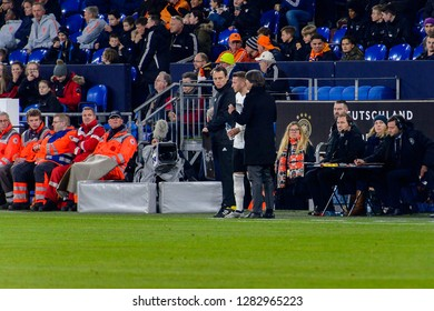 GELSENKIRCHEN - NOV 19, 2018: Marco Reus 11 comes to the field. Germany - Netherlands. UEFA Nations League. Schalke 04 stadium.