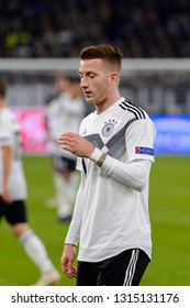 GELSENKIRCHEN - NOV 19, 2018: Marco Reus 11. Germany - Netherlands. UEFA Nations League. Schalke 04 stadium.