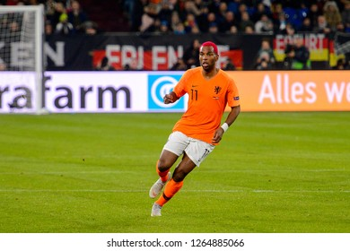 GELSENKIRCHEN - NOV 19, 2018: Ryan Babel 11. Germany - Netherlands. UEFA Nations League. Schalke 04 stadium.