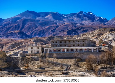 Gelup Sec Monastery of VIctory  is renovated after earthquake, and is part of Mustang king's summer residence.