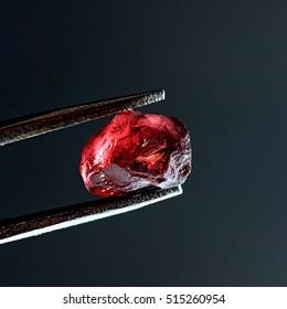 Gem quality garnet crystal from finnish Lapland