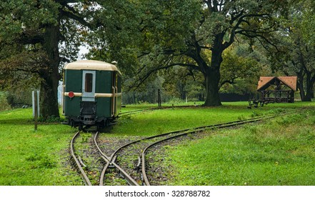GEMENC, HUNGARY - 17 OCTOBER, 2015: The Gemenc mini-railway in Gemenc, Hungary on 17 October, 2015. The Gemenc mini-railway operates all the year.
