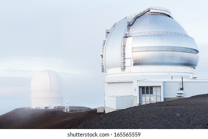 Gemini and the Canada-France-Hawaii Observatories at the peak of Mauna Kea, a dormant volcano on The Big Island, Hawaii.