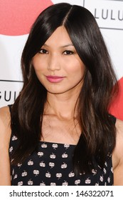 Gemma Chan arrives for The Lulu Guinness Paint Project Event at the Old Sorting Office, London. 11/07/2013