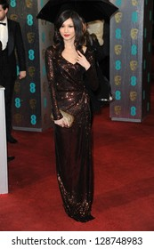 Gemma Chan arriving for the EE BAFTA Film Awards 2013 at the Royal Opera House, Covent Garden, London. 10/02/2013 Picture by: Steve Vas