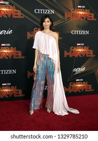 Gemma Chan at the World premiere of 'Captain Marvel' held at the El Capitan Theater in Hollywood, USA on March 4, 2019.