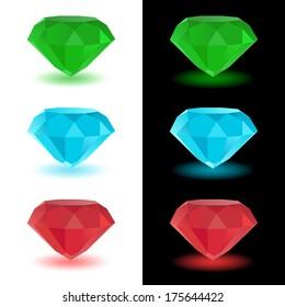 Gems. Raster version of EPS image 29222974