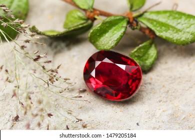 Gemstone beauty shot RUBY natural