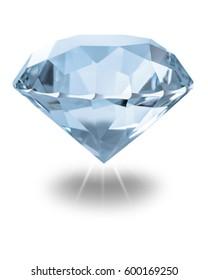 Gemstone close-up on a white isolated background