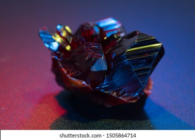 Gemstone crystal. Transparent Raw Ruby
