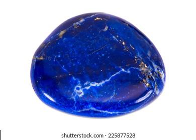 Gemstone on white background, lapis lazuli