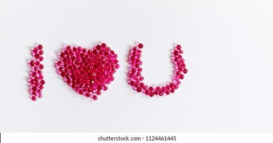 Gemstones words. Isolated on white background.