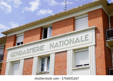 gendarmerie nationale is french military police with text sign logo in building office