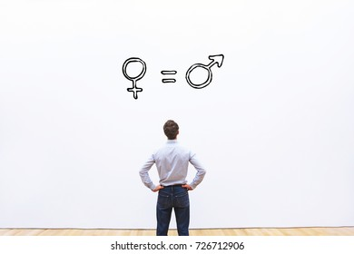 gender equality concept, man and woman are equal