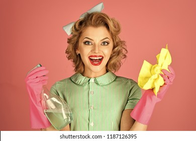 gender equality, gender inequality, retro woman housewife cleaning. gender equality, gender inequality, sexy woman cleaner