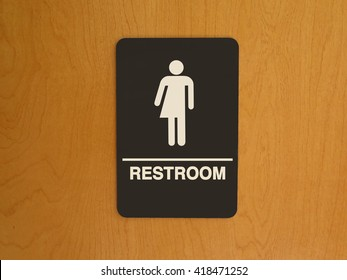 Gender Neutral Bathroom sign on door